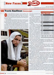 Travis Kauffman Featured in Ring Magazine